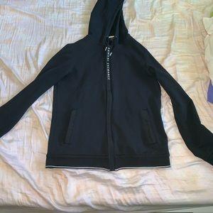 black  Armani exchange zip up hoodie size small